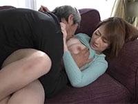 退職して家にいることが多い暇人義父のエロ好意に藍液があふれ中出しセックス